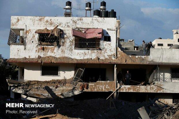 بمباران غزه توسط جنگندههای صهیونیستی - 5