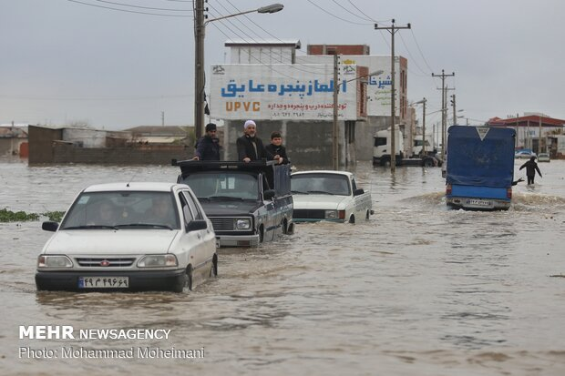شدت گرفتن سیلاب در روستاهای استان گلستان - 41