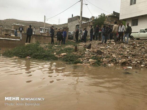 خسارات سیل در محله سعدی شیراز - 8