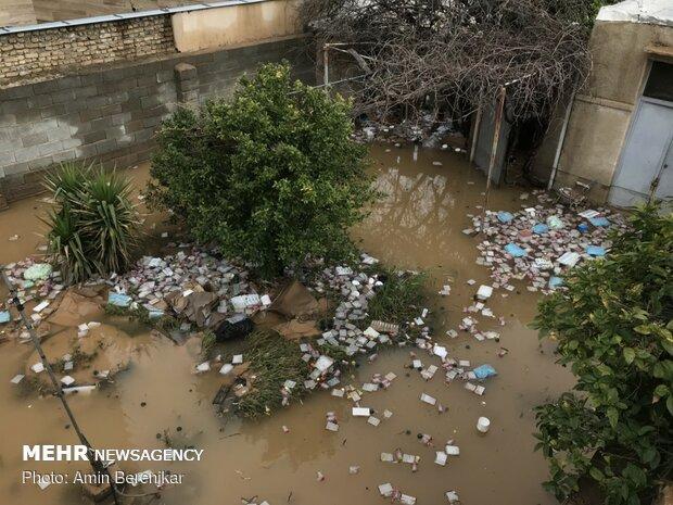خسارات سیل در محله سعدی شیراز - 23