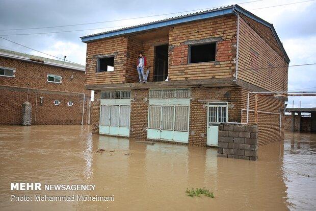 شدت گرفتن سیلاب در روستاهای استان گلستان - 33