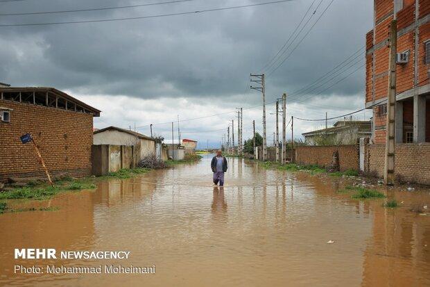 شدت گرفتن سیلاب در روستاهای استان گلستان - 29