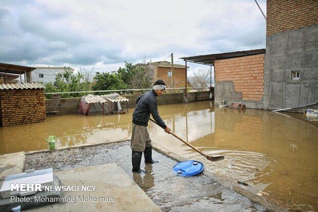 شدت گرفتن سیلاب در روستاهای استان گلستان - 25