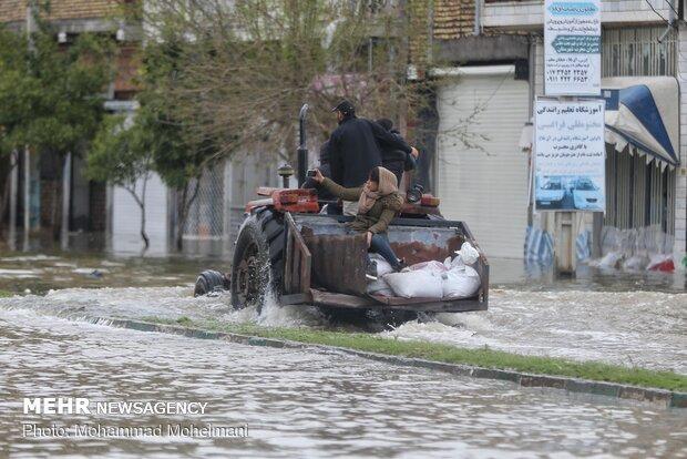 شدت گرفتن سیلاب در روستاهای استان گلستان - 47