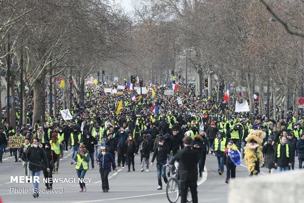 سیزدهمین شنبه اعتراضات در فرانسه - 22