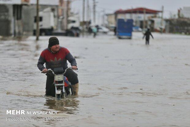 شدت گرفتن سیلاب در روستاهای استان گلستان - 37