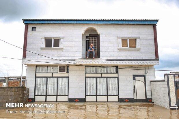شدت گرفتن سیلاب در روستاهای استان گلستان - 23