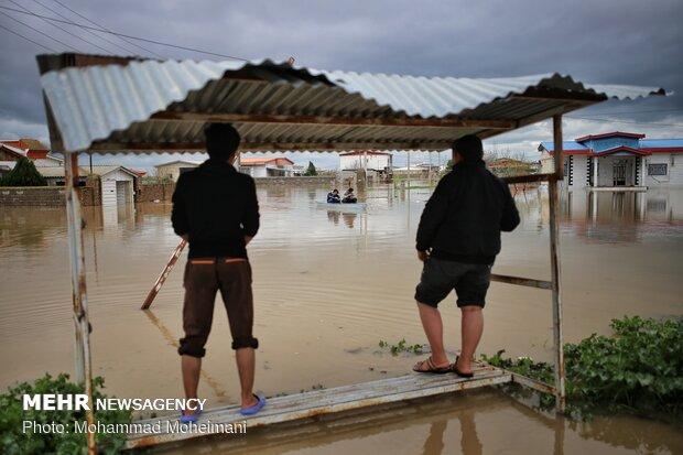 شدت گرفتن سیلاب در روستاهای استان گلستان - 17