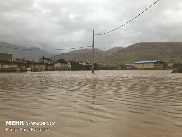 خسارات سیل در محله سعدی شیراز - 4