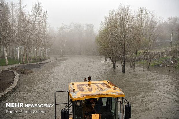 طغیان مسیل اصلی شهر مشهد - 15