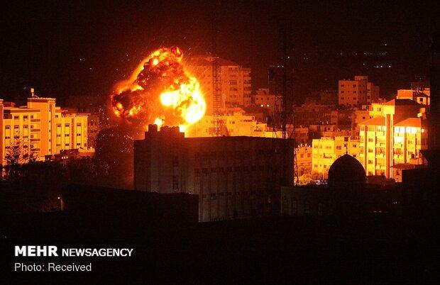 بمباران غزه توسط جنگندههای صهیونیستی - 3