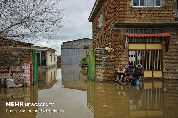 شدت گرفتن سیلاب در روستاهای استان گلستان - 19