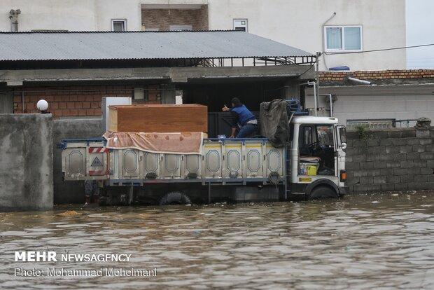 شدت گرفتن سیلاب در روستاهای استان گلستان - 45
