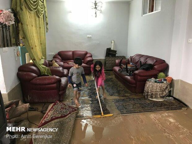 خسارات سیل در محله سعدی شیراز - 21
