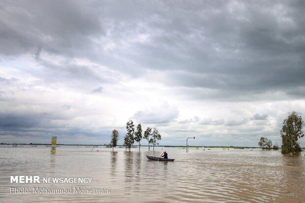 شدت گرفتن سیلاب در روستاهای استان گلستان - 3