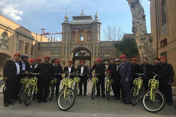 دوچرخه سواری شهرداران کلانشهرها از «بهشت» تا «پاستور»