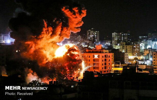 بمباران غزه توسط جنگندههای صهیونیستی - 9