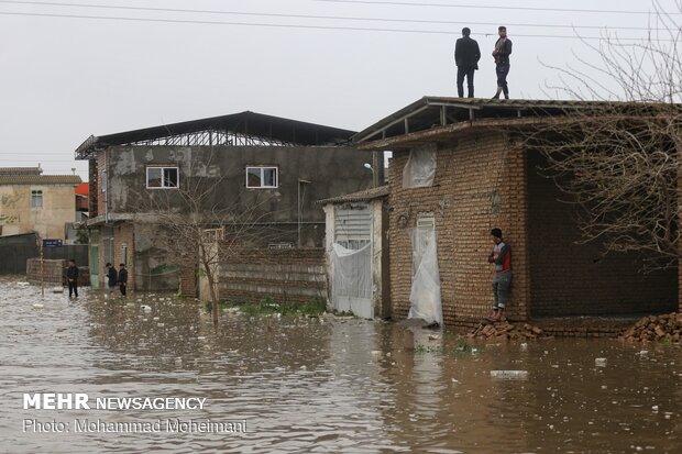 شدت گرفتن سیلاب در روستاهای استان گلستان - 57