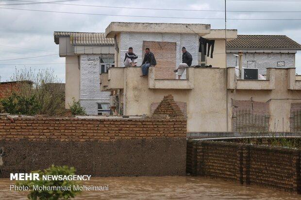 شدت گرفتن سیلاب در روستاهای استان گلستان - 13