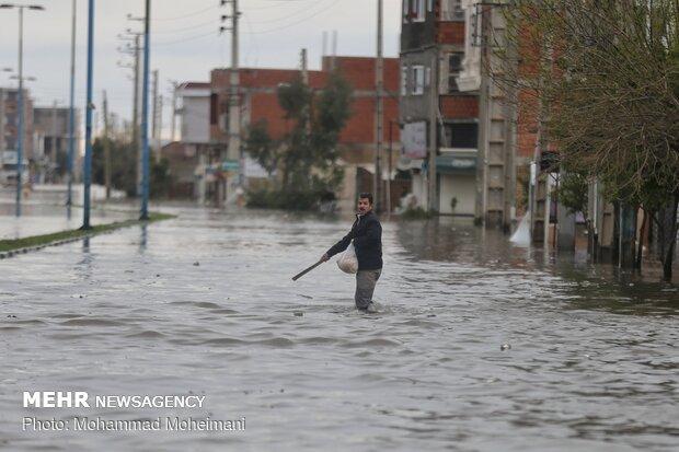 شدت گرفتن سیلاب در روستاهای استان گلستان - 53