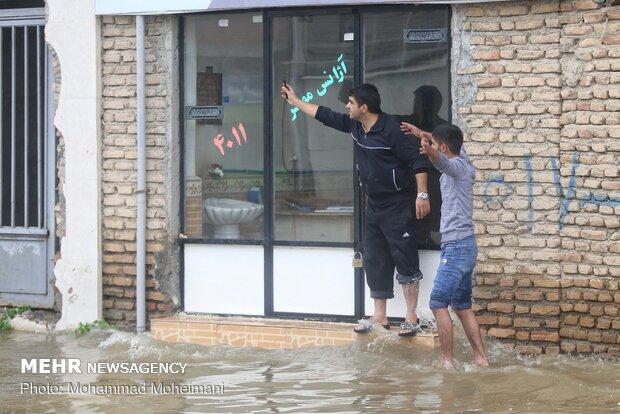 شدت گرفتن سیلاب در روستاهای استان گلستان - 49