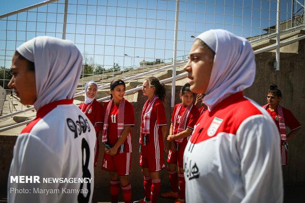 دیدار فوتبال دختران ایران و اردن - 1