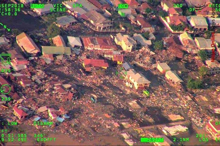 تصاویر هوایی از سونامی مرگبار در اندونزی - 1