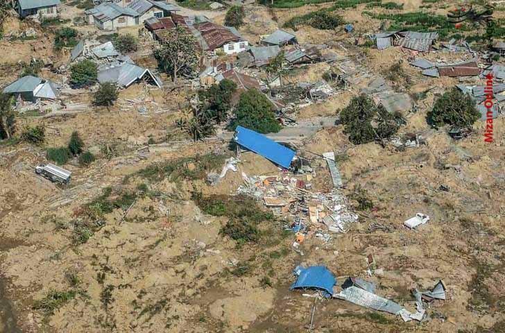 تصاویر هوایی از سونامی مرگبار در اندونزی - 7