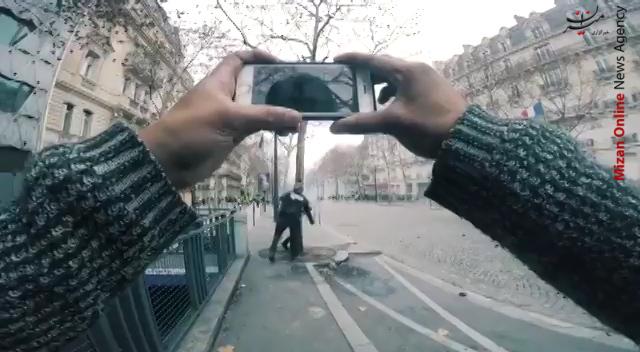 تصاویری از حمله پلیس فرانسه به معترضان فیلمبردار - 3