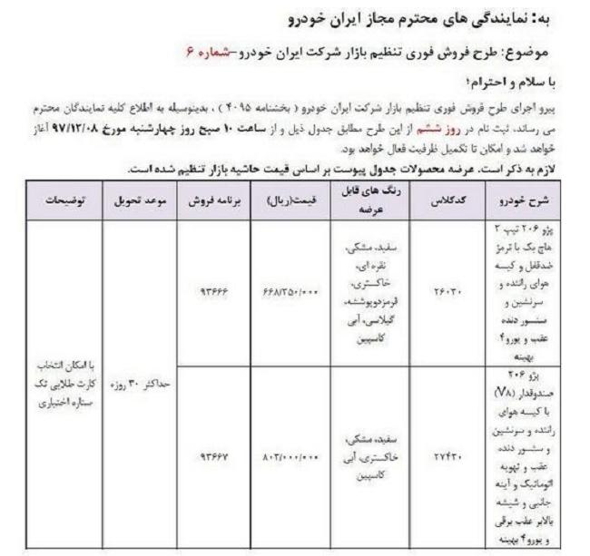 فروش فوری پژو ۲۰۶ توسط ایرانخودرو - 2