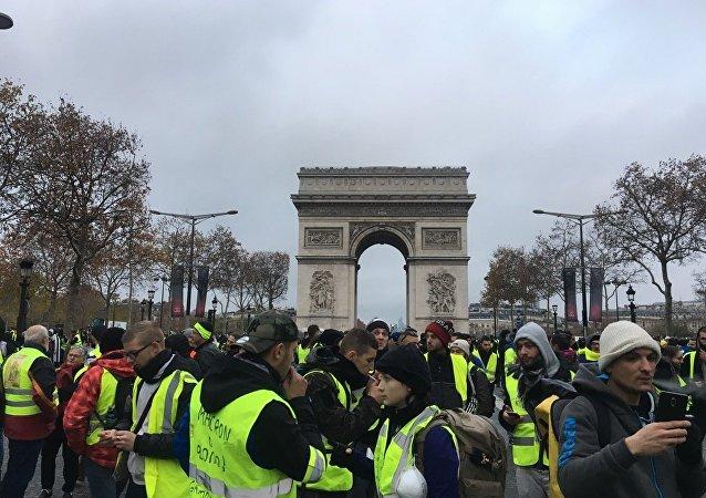 ادامه تظاهرات جلیقه زردها در فرانسه/پلیس از گاز اشکآور علیه معترضان استفاده کرد - 2