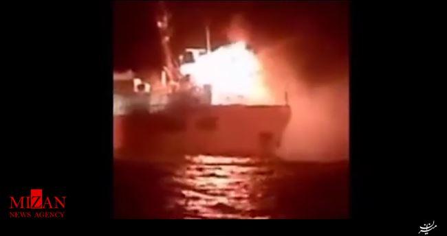 آتشسوزی شناور در نزدیکی بندر عسلویه +فیلم - 3