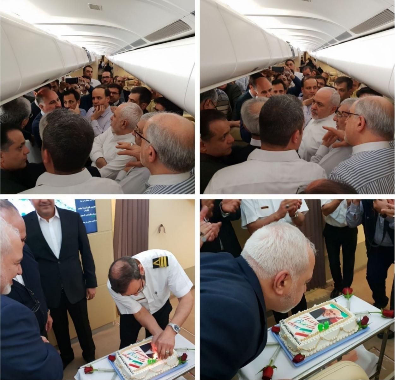جشن تولد ظریف در هواپیما +عکس - 2