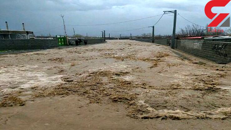 سیلاب محور امام رضا (ع) را مسدود کرد - 1