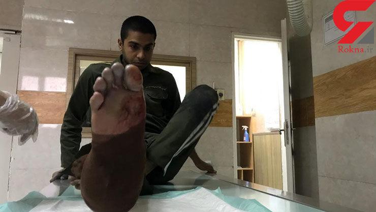 اولین مصدوم پلیس تهران در چهارشنبه سوری / با نارنجک به او حمله کردند + فیلم و عکس - 1