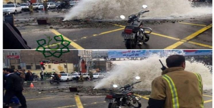 لوله اصلی آب تهران در منطقه ۲ ترکید - 3