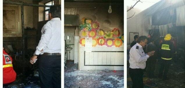 آتشسوزی مدرسه در زاهدان ۴ دانش آموز را روانه بیمارستان کرد - 54