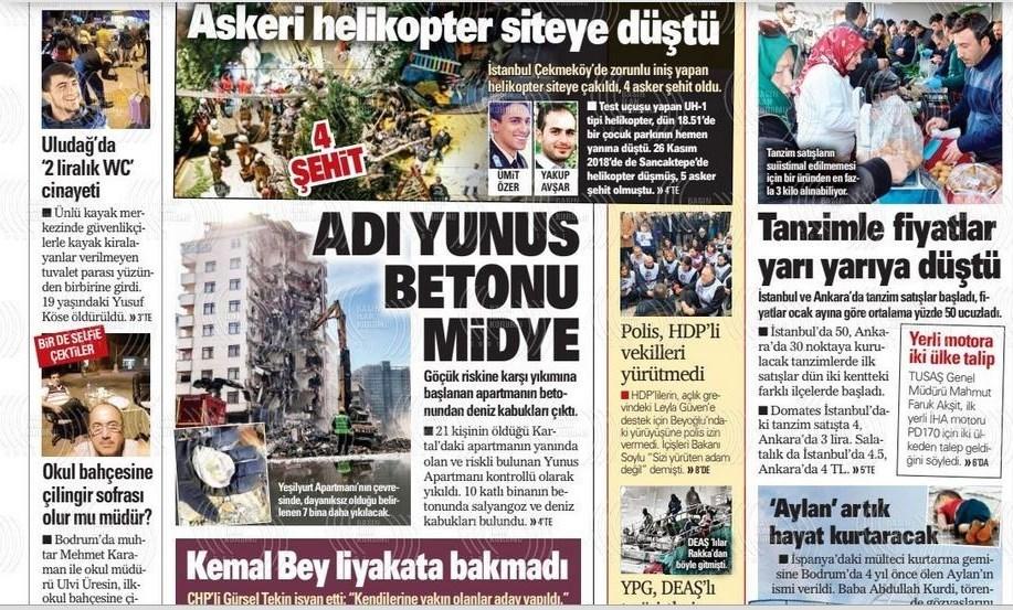 نشریات ترکیه در یک نگاه|تشکیل صف در برابر مراکز دولتی توزیع میوه/ دیدار وزرای دفاع روسیه و ترکیه در مورد ادلب - 20