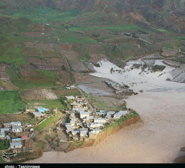 تصاویر هوایی از روستاهای سیلزده پلدختر - 4
