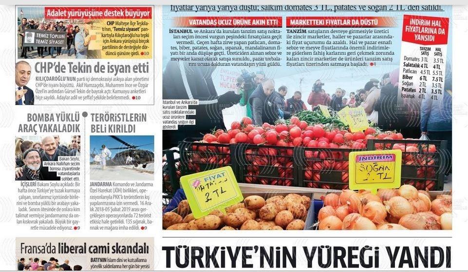 نشریات ترکیه در یک نگاه|تشکیل صف در برابر مراکز دولتی توزیع میوه/ دیدار وزرای دفاع روسیه و ترکیه در مورد ادلب - 11