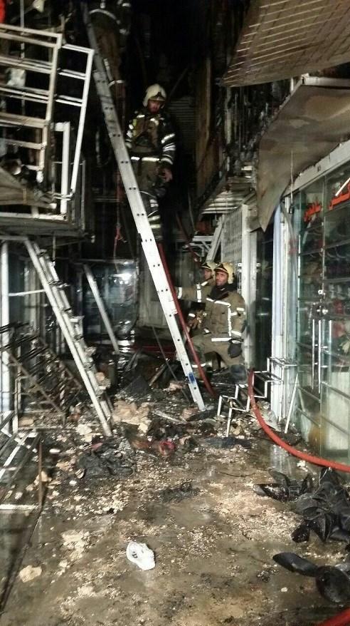 آتش گرفتن ۱۵ باب مغازه در بازار تهران + فیلم و تصاویر - 15