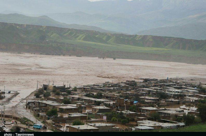 تصاویر هوایی از روستاهای سیلزده پلدختر - 2