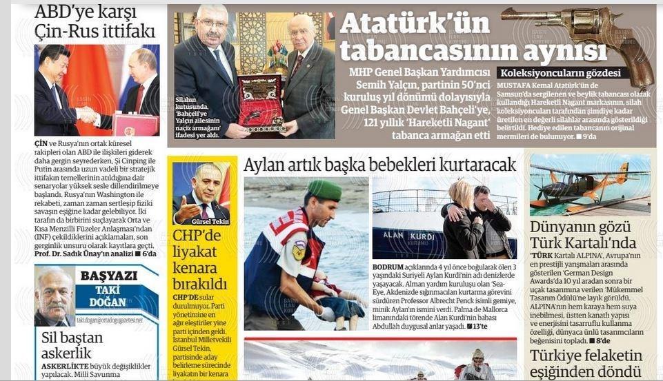 نشریات ترکیه در یک نگاه|تشکیل صف در برابر مراکز دولتی توزیع میوه/ دیدار وزرای دفاع روسیه و ترکیه در مورد ادلب - 36