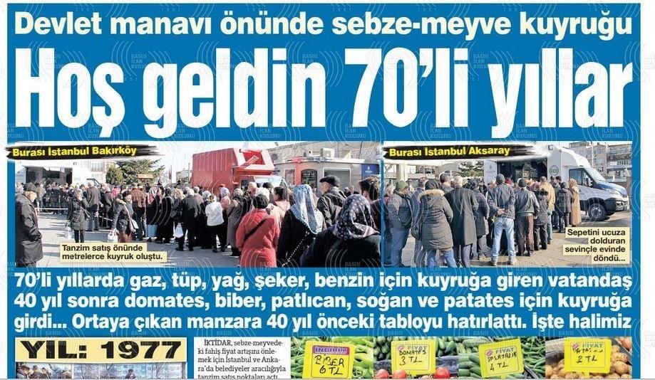 نشریات ترکیه در یک نگاه|تشکیل صف در برابر مراکز دولتی توزیع میوه/ دیدار وزرای دفاع روسیه و ترکیه در مورد ادلب - 32