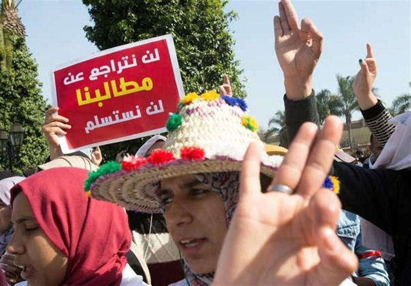 تظاهرات هزاران معلم مغربی برای بهبود معیشت