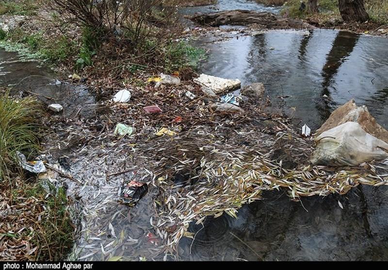 زبالهریزی در رودخانههای منتهی به دریاچه بحران زده ارومیه ادامه دارد - 8