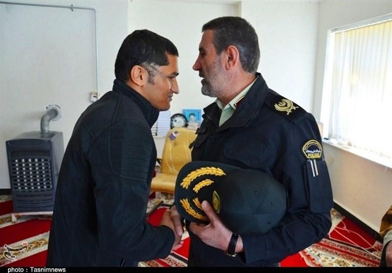 عیادت فرمانده انتظامی کهگیلویه و بویراحمد از جانباز حادثه تروریستی چابهار + تصاویر - 7