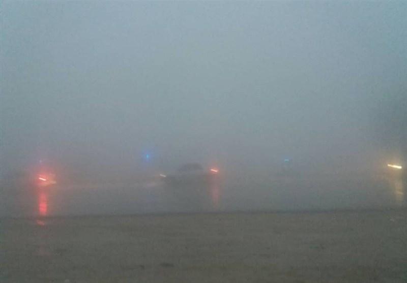 مهگرفتگی در محور نیشابور به مشهد؛ بارشها تشدید میشود