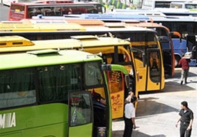 حمل خطرناک بار روی سقف اتوبوسها در سایه بی توجهی پلیس راه