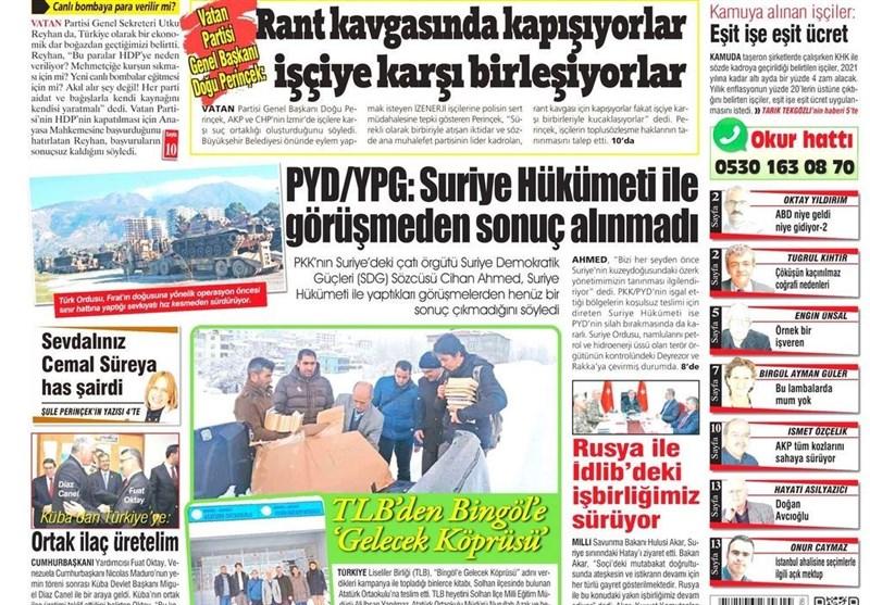 نشریات ترکیه در یک نگاه|نشست مهم مقامات نظامی و امنیتی ترکیه در مرز سوریه/ کلچدار اوغلو: شورای عالی انتخابات٬ بیطرف نیست - 40
